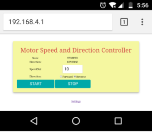 iot based dc motor speed control software