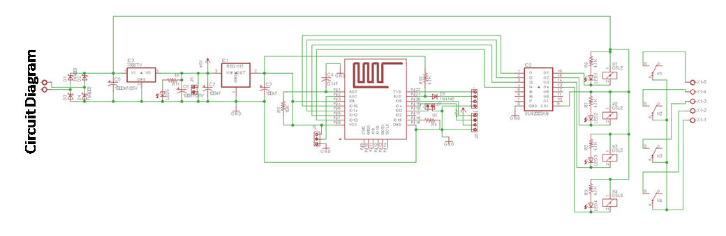 iot based home automation circuit