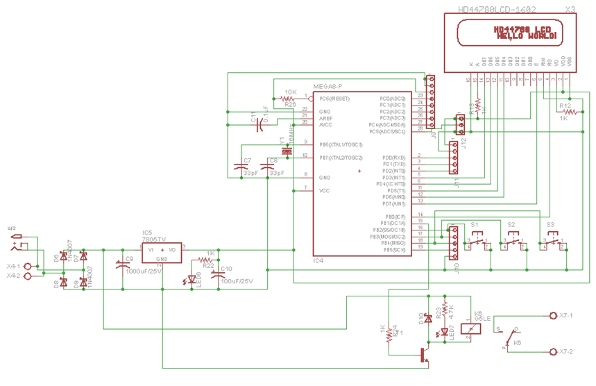 Microcontroller Based Temperature Controller  Electronics